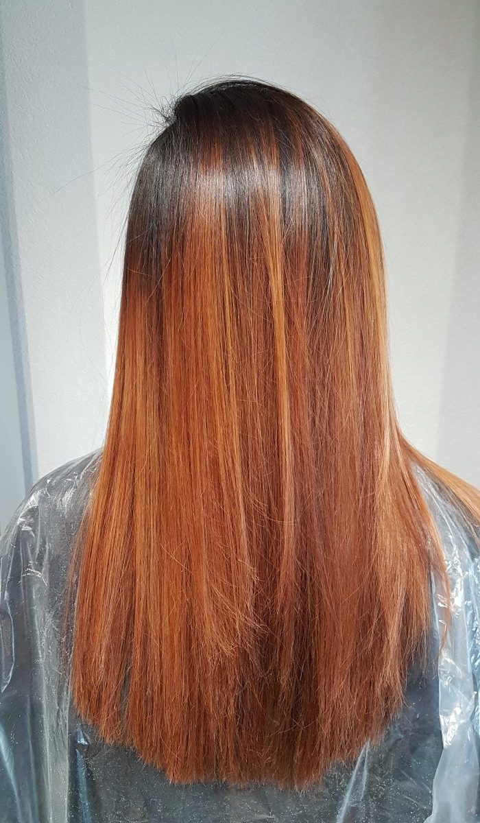 Kundenbeispiel des Ergebnis nach der Keratin Haarglättung