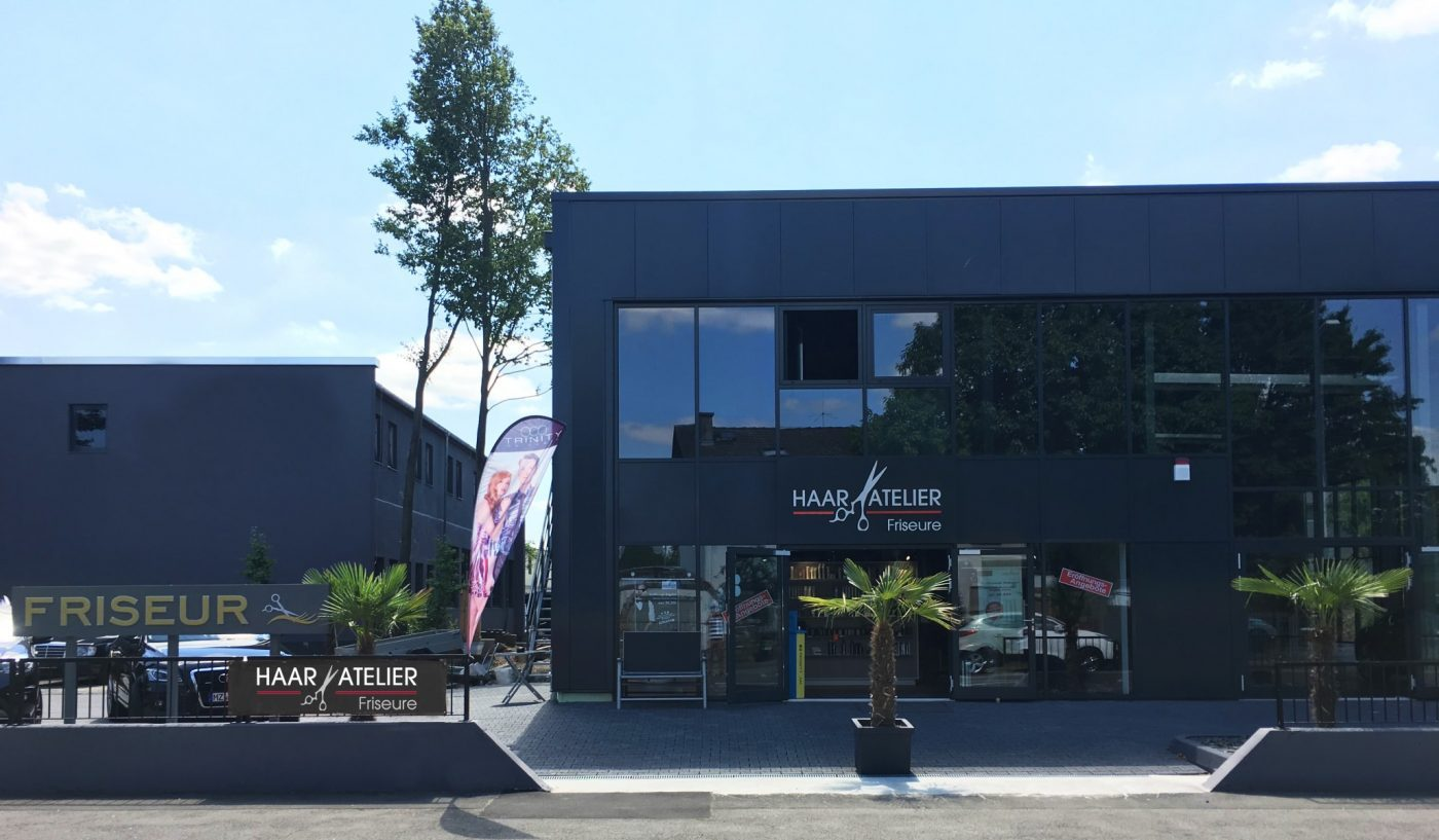 Außenansicht des Haar-Atelier Friseure Mainz