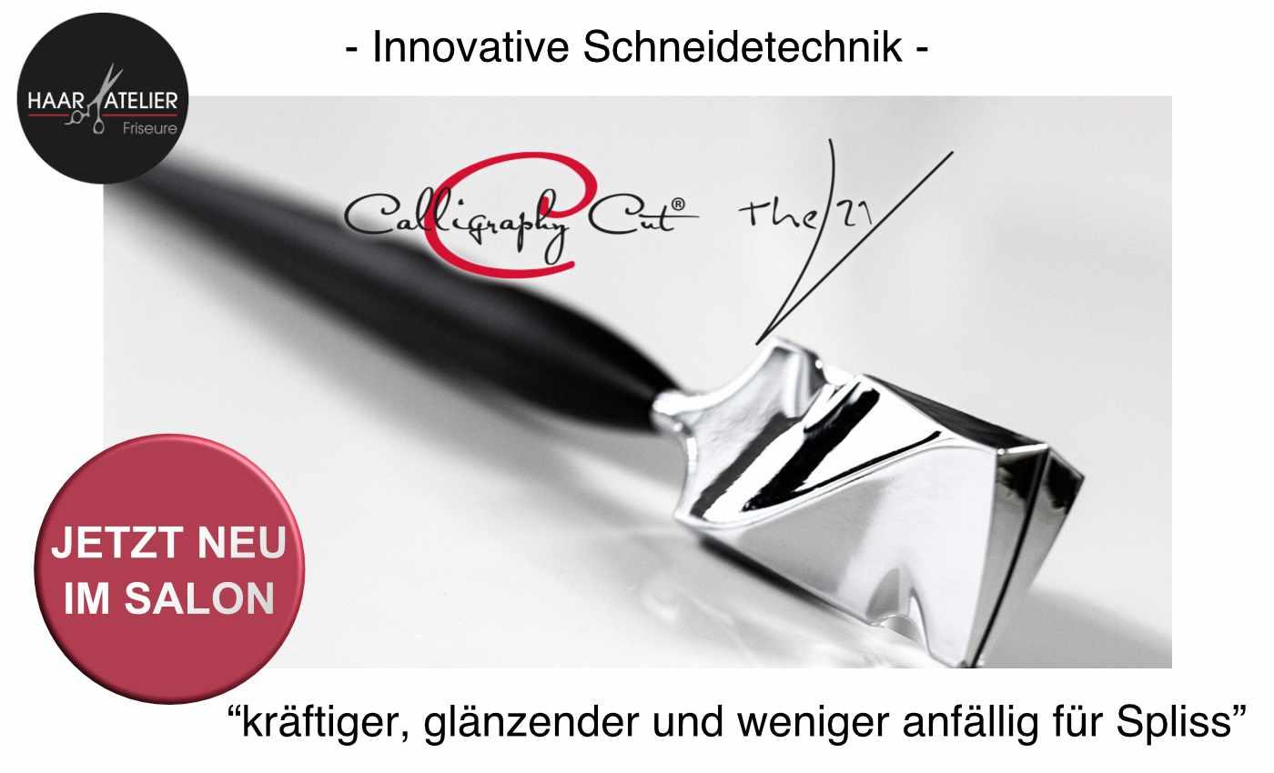 Calligraphy-Cut neu im Haar-Atelier Friseure